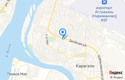 Местоположение на карте пункта техосмотра по адресу Астраханская обл, Приволжский р-н, с Карагали, ул Зеленая, зд 4
