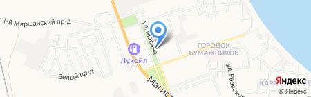 Два орла на карте Астрахани