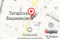 Схема проезда до компании Почтовое отделение в Татарской Башмаковке