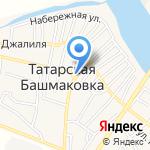 Бабочка на карте Астрахани