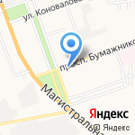 Салон цветов и воздушных шаров на карте Астрахани