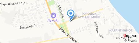 Родник на карте Астрахани