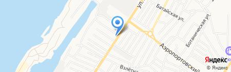 Сармат на карте Астрахани