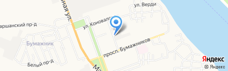 Продуктовый магазин на ул. Коновалова на карте Астрахани