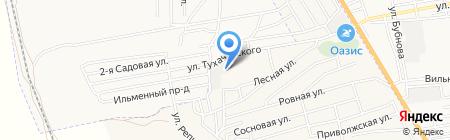 Урал на карте Астрахани
