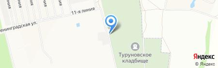 Туруновское кладбище на карте Йошкар-Олы