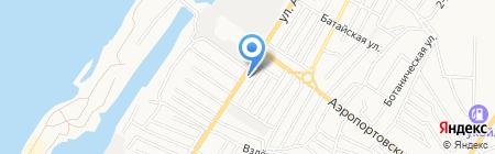 Продуктовый магазин на ул. Адмирала Нахимова на карте Астрахани