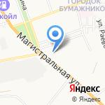 Иволга на карте Астрахани