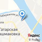 Кызан на карте Астрахани