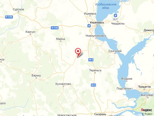село Щеголиха на карте