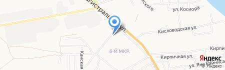 Олимпиец на карте Астрахани