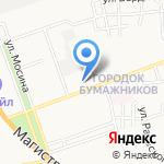 Снежинка на карте Астрахани