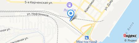 Деревяшкин на карте Астрахани
