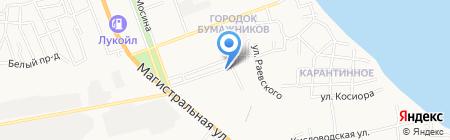 Лазурь на карте Астрахани
