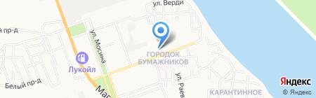 Средняя общеобразовательная школа №22 на карте Астрахани