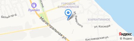 Кудряшка на карте Астрахани