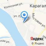 Порт Кизань на карте Астрахани