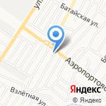 У якоря на карте Астрахани