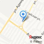 Эмир на карте Астрахани