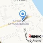 Золотые ножницы на карте Астрахани