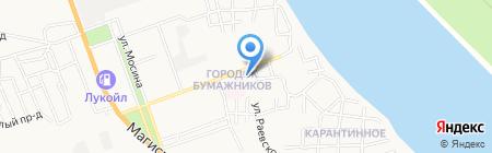 Таблетка на карте Астрахани
