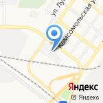 Старый мост на карте Астрахани