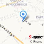 Слип на карте Астрахани