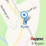 У дороги на карте Йошкар-Олы