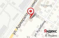 Схема проезда до компании Зона Спорта в Астрахани