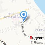 Сапожок на карте Астрахани