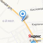 Цветочный дизайн на карте Астрахани