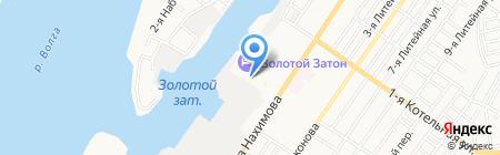 Храм святого Феодора Ушакова на карте Астрахани