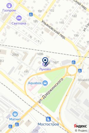 АЗС №11 ЛУКОЙЛ-НИЖНЕВОЛЖСКНЕФТЕПРОДУКТ на карте Астрахани