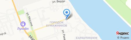 Магазин цветов на проспекте Бумажников на карте Астрахани