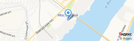 Судостроительно-судоремонтный завод им. В.И. Ленина на карте Астрахани