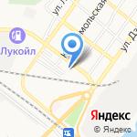 Девичья Башня на карте Астрахани