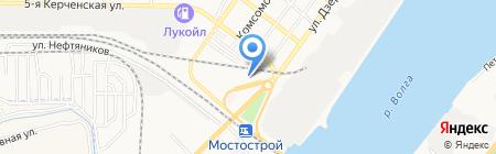 Старт на карте Астрахани