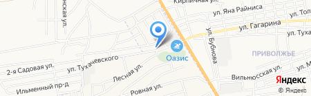ПОТИ на карте Астрахани
