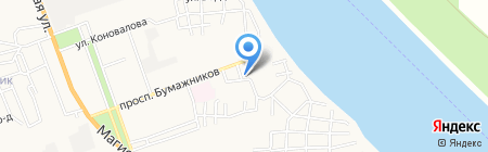 Рынок АЦКК на карте Астрахани