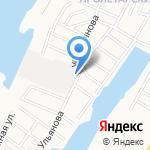 Астраханский Автомост на карте Астрахани