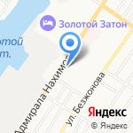 Линия Красоты на карте Астрахани