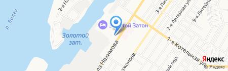 Пожарная часть №4 на карте Астрахани
