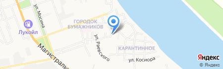 Компас на карте Астрахани
