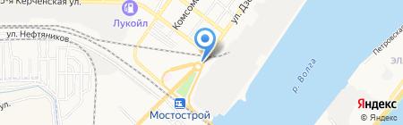 Форпост на карте Астрахани