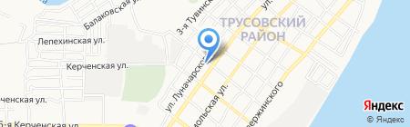 Бакинский на карте Астрахани