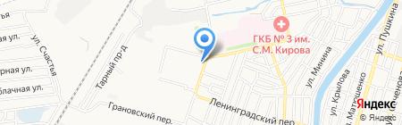 Миледи на карте Астрахани