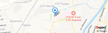Автомойка на Молдавской на карте Астрахани