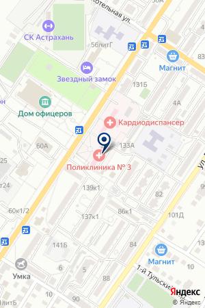 ДЕТСКАЯ ПОЛИКЛИНИКА ГОРОДСКАЯ БОЛЬНИЦА № 6 на карте Астрахани