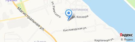 Продуктовый магазин на ул. Косиора на карте Астрахани