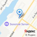 Морячок на карте Астрахани